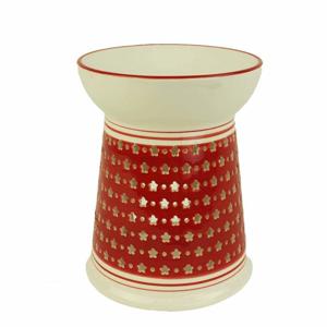 Aromalampa porcelánová 11,5cm červeno-bílá
