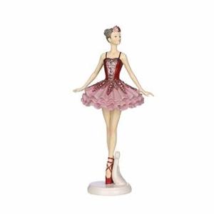 Baletka na podstavci polyresin růžová 21,5cm