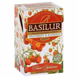 Čaj Basilur Fruit Indian Strawberry & Raspberry 20x1,8g