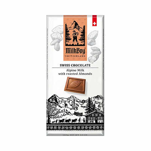 Čokoláda mléčná Roasted Almonds MILKBOY SWISS 100g