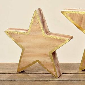 Dřevěná hvězda GLAMMY 30cm