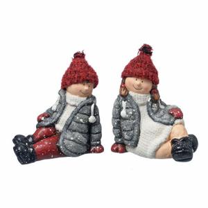Figurka děti LISL/SEPP sedící keramika 14cm
