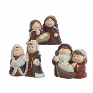 Figurka Svatá rodina z terakoty 6,5cm mix tvarů B