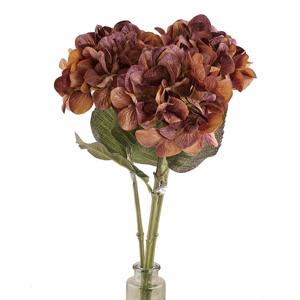 Hortenzie BOW řezaná umělá fialovo-bronzová