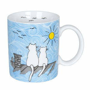 Hrnek CAT BY DAY porcelán 300ml