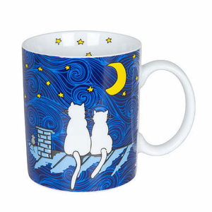 Hrnek CAT BY NIGHT porcelán 300ml