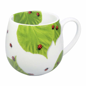 Hrnek LADYBIRD ON LEAVES porcelán 420ml