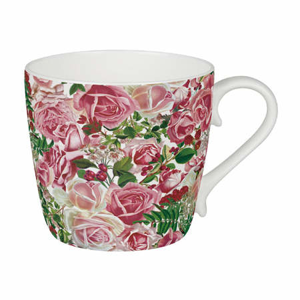 Hrnek ON A SEA OF ROSES porcelán 415ml