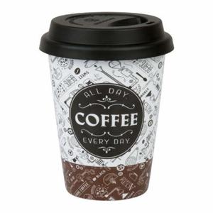 Hrnek s víčkem COFFEE porcelán/silikon 380ml