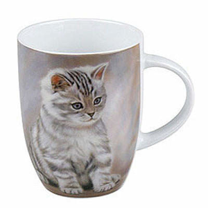 Hrnek TIGER STRIPED KITTEN porcelán 355ml