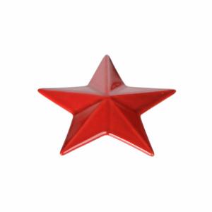 Hvězda 14,5cm keramika červená