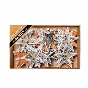 Hvězda dekorační březová kůra/námraza 30ks