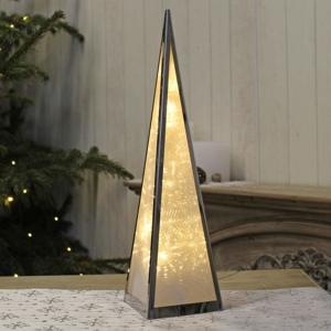 Jehlan svíticí dekor holografy kov 45cm