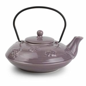 Konvice čajová keramika-litina YONG fialová 1L