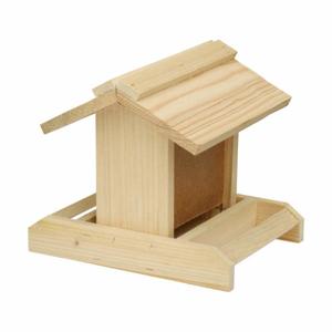 Krmítko dřevěné h19x22x23cm přírodní