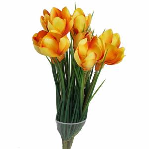 Krokus SYLVIA trs umělý 30cm žluto-oranžový