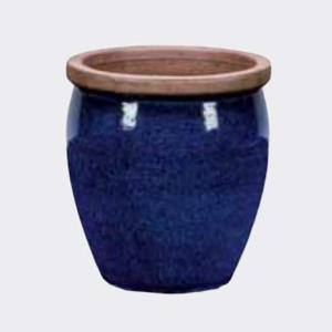 Květináč BONN hnědý lem keramika modrá 32cm