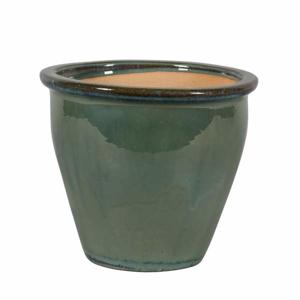 Květináč LUCCA 02N keramika glazovaný zelený 31cm