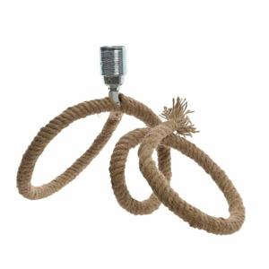 Lampa stolní podstavec z lana 21cm bez stínidla