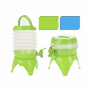 Nádoba s kohoutkem skládací plast zelená/modrá mix 32cm