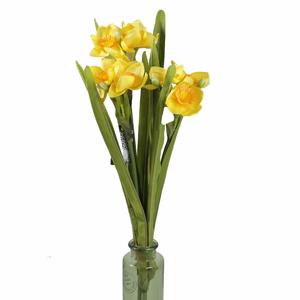 Narcis NOUVEL řezaný umělý 58cm žlutý