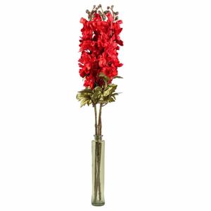 Ostrožka ALBAN řezaná umělá červená 84cm
