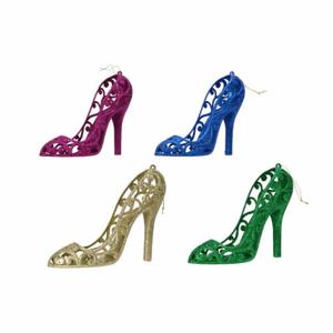 Ozdoba bota plast s glitry mix 16cm