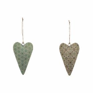 Ozdoba srdce dekor ornament plech mix 12cm