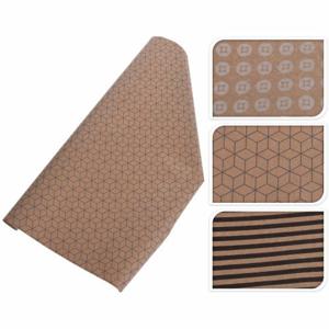 Papír balicí geometrické prvky hnědá 2m