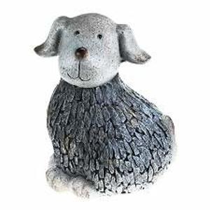 Pes polyresinový 29cm šedý