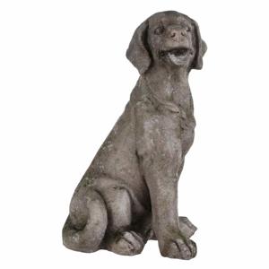 Pes sedící 39,5cm hnědý