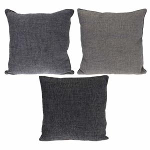 Polštář polyesterový 45cm šedý mix odstínů