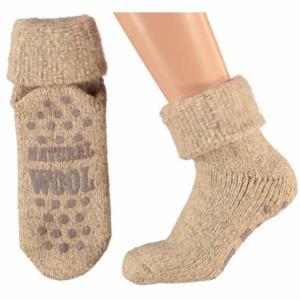 Ponožky dámské vel.35-38 vlna béžová