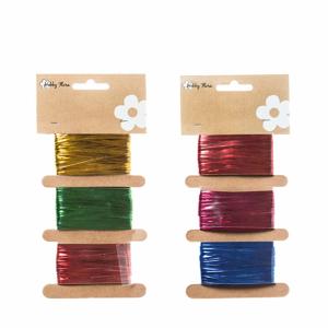 Provaz dekorační 3 barvy po 5m mix