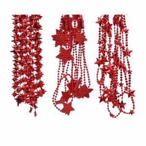 Řetěz hvězdy plast mix červená 2,7m