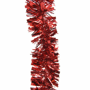Řetěz vánoční červený 75mmx2,7m