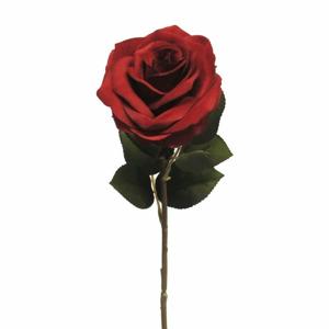 Růže ANGEL řezaná umělá tm. červená 46cm