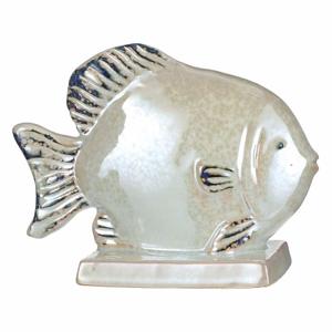 Ryba na podstavci keramická 20cm perleťová