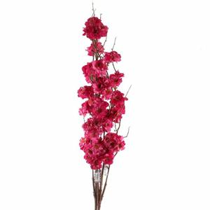 Sakura ARIELLE větev umělá fuchsiová 126cm