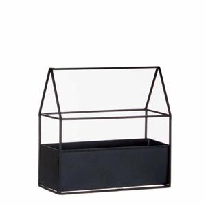 Skleník pokojový kov/sklo 21cm