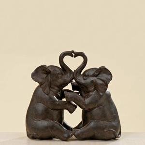 Slon sedící polyresin 15cm