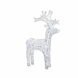 Sob svíticí 50LED studená bílá akryl venkovní