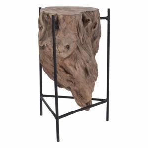 Stolek s konstrukcí plavené dřevo/kov 35cm