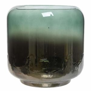 Svícen skleněný HURRICANE 15cm zelený