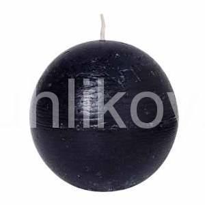 Svíčka koule 8cm RUSTIC černá