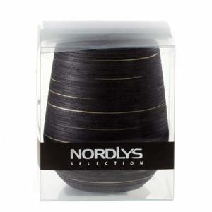 Svíčka UNIPAR NORDLYS STEEP LINE černá 8x12cm