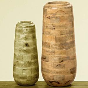 Váza dřevěná válecová VIBORG 47cm