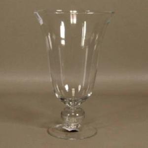 Váza kónická číše na noze CAROLINCA sklo 26cm