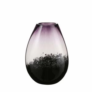 Váza LORETTA 30cm slza skleněná