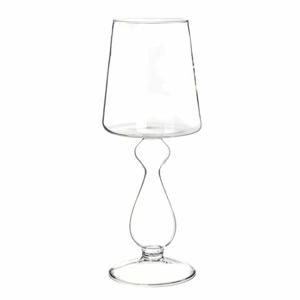 Váza tvar stolní lampa sklo 32cm